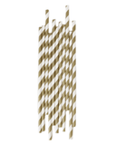 Little my little day paper+party Gold Striped Paper Straws