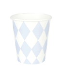 Little my little day paper+party Light Blue Diamond Paper Cups