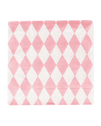 Little my little day paper+party Light Pink Diamond Paper Napkins