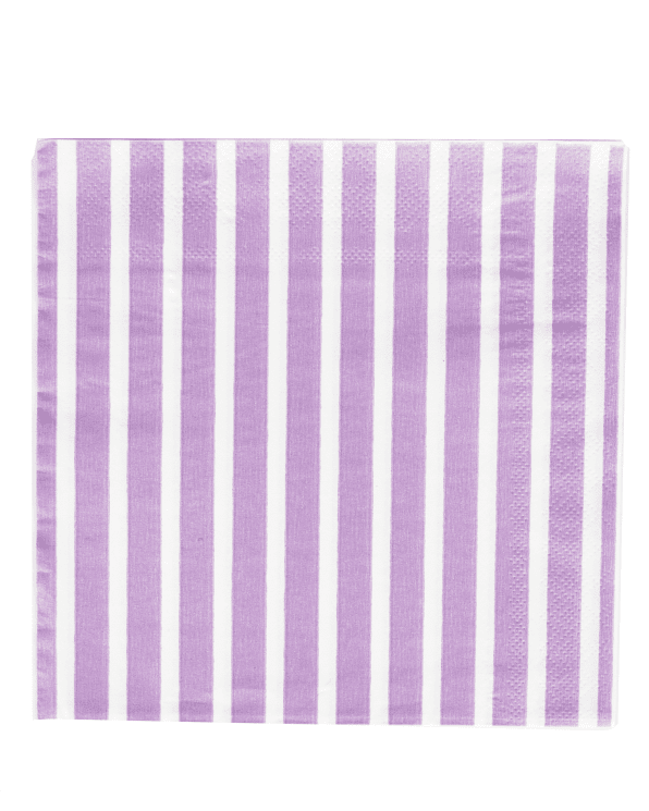 Little my little day paper+party Lilac Striped Paper Napkins