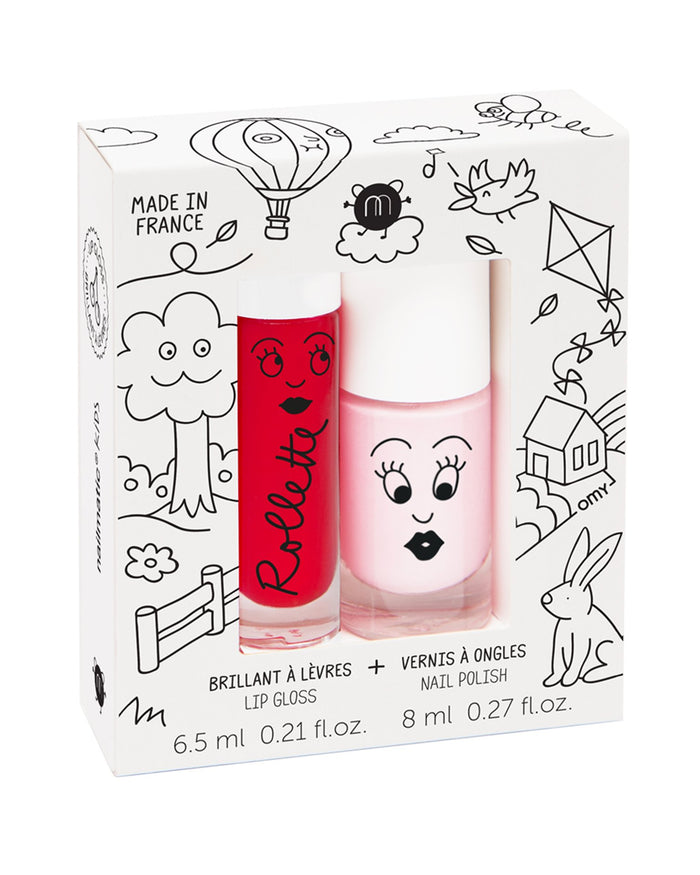 Little nailmatic room kids cottage polish + lip gloss set