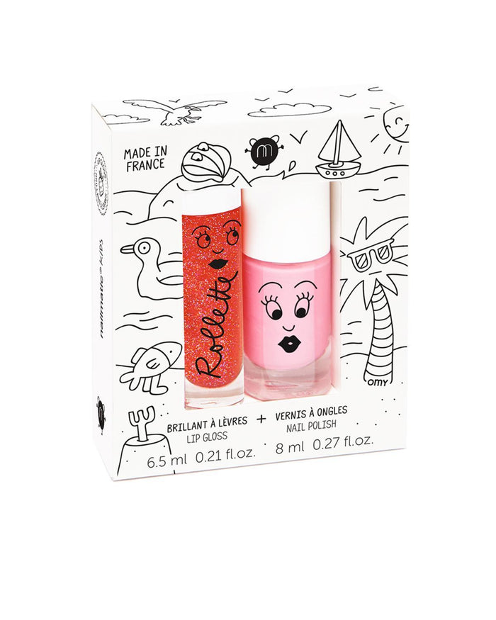 Little nailmatic accessories Nail Polish + Lip Gloss Set in Holiday