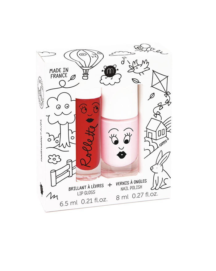 Little nailmatic accessories Nail Polish + Lip Gloss Set in Kids Cottage
