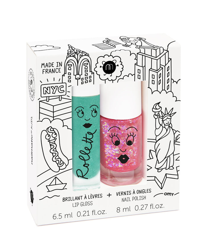 Little nailmatic accessories nail polish + lip gloss set in new york