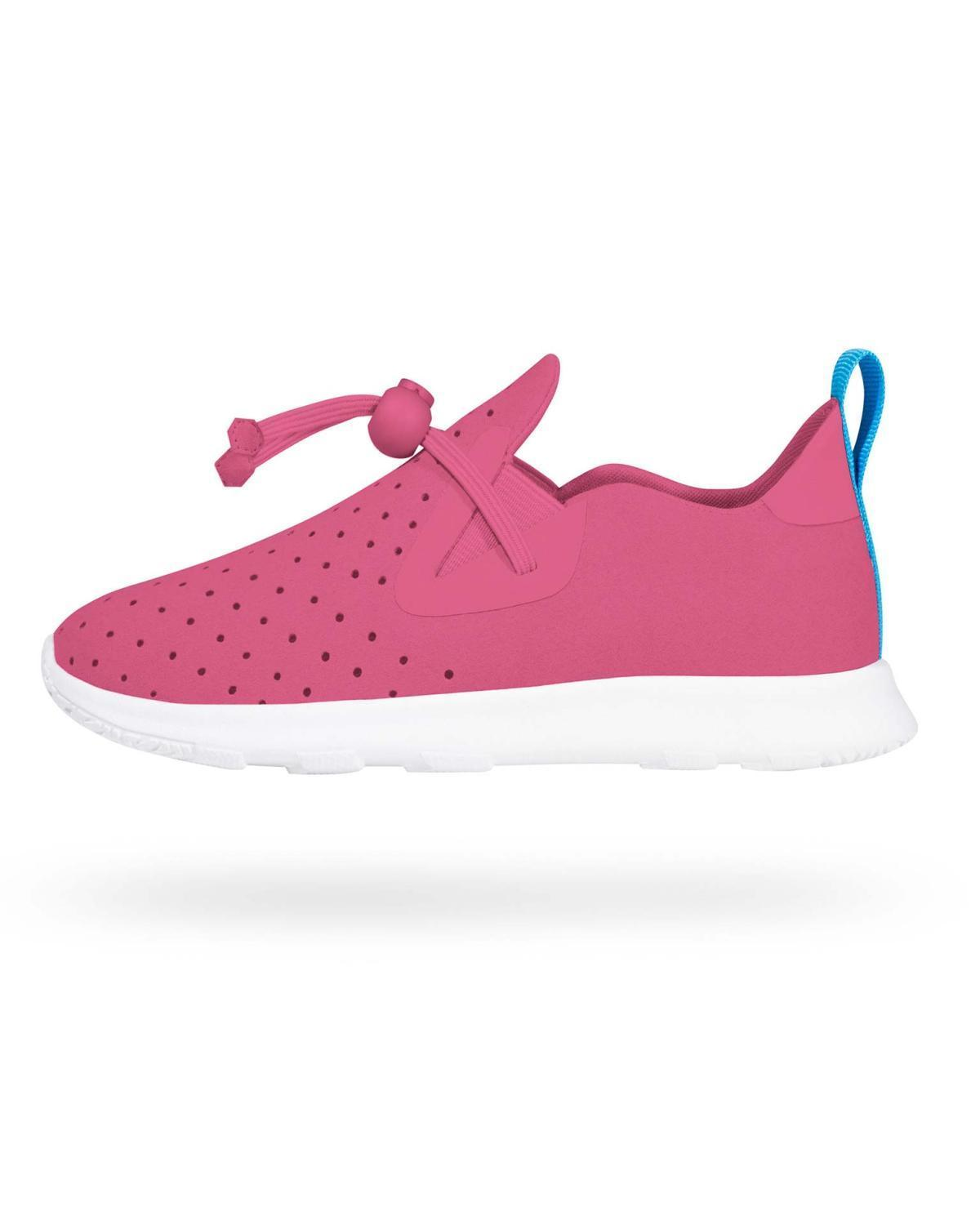 Little native shoes girl 6 Apollo Moc in Hollywood Pink