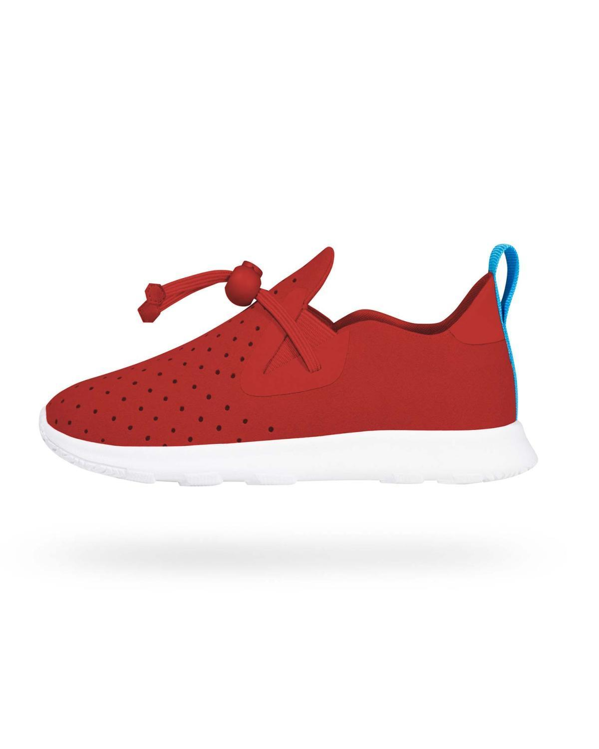 Little native shoes boy c6 Apollo Moc in Torch Red