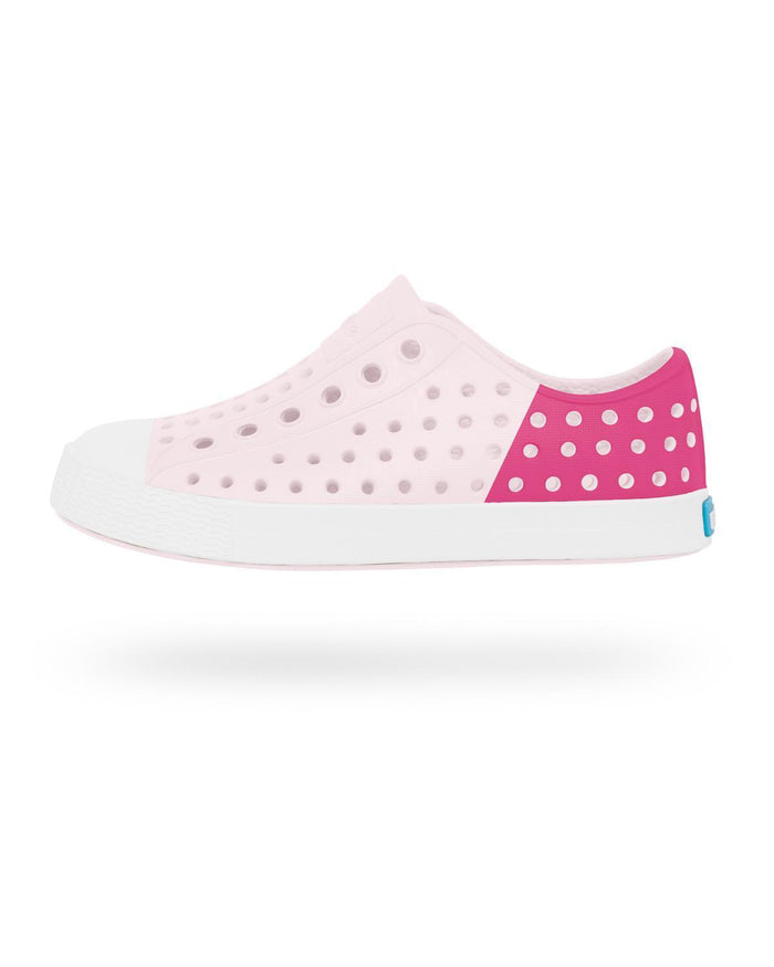 Little native shoes girl j1 Jefferson Block Junior in Pink/White/Hollywood
