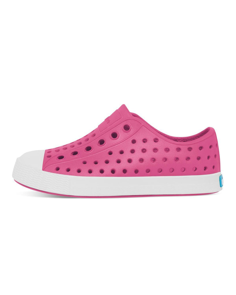 Little native shoes girl c4 jefferson child in hollywood pink + shell white