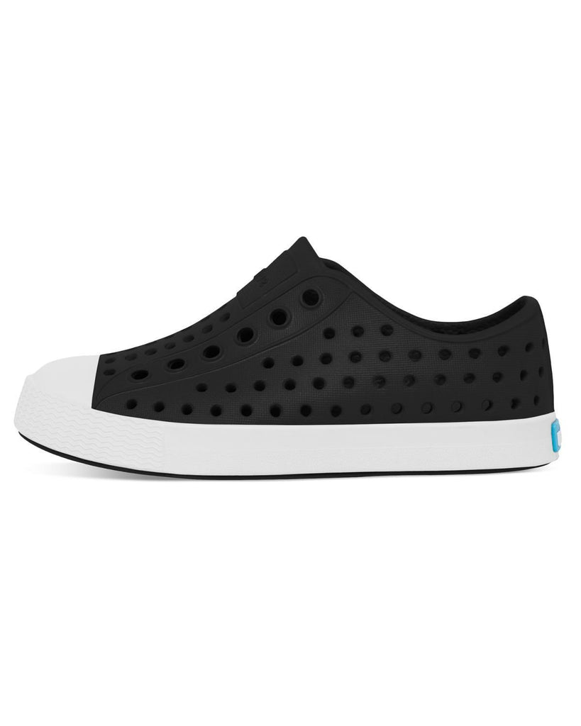 Little native shoes boy c4 jefferson child in jiffy black + shell white