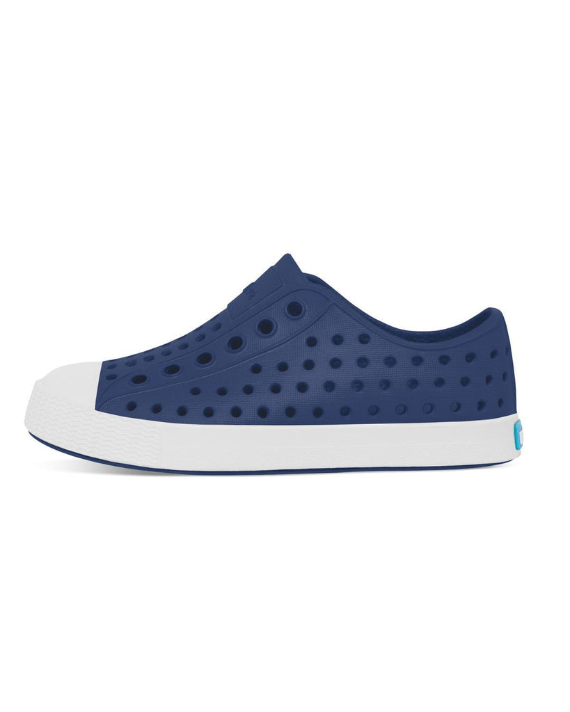 Little native shoes boy c4 jefferson child in regatta blue + shell white