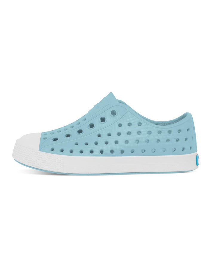 Little native shoes girl c4 jefferson child in sky blue + shell white