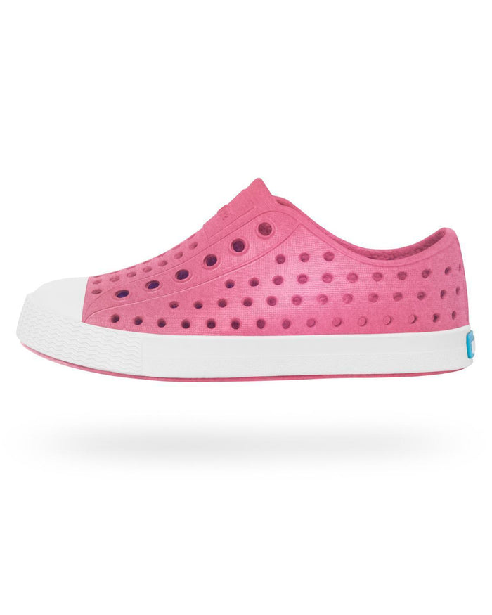 Little native shoes girl j1 Jefferson Iridescent Junior in Hollywood Pink