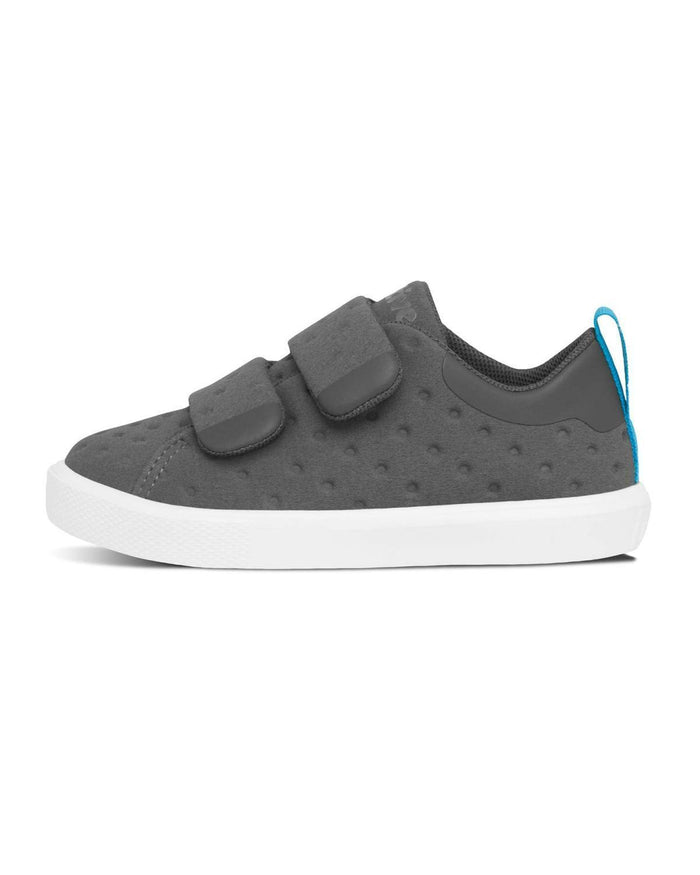 Little native shoes boy c6 Monaco Velcro in Dublin Grey