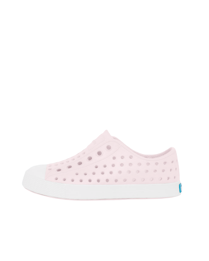 Little natives girl jefferson in milk pink + shell white