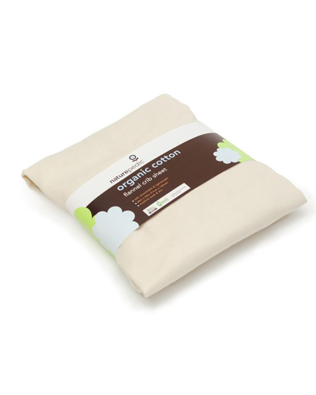 Naturepedic 3 Pack Flannel Fitted Crib Sheets Little