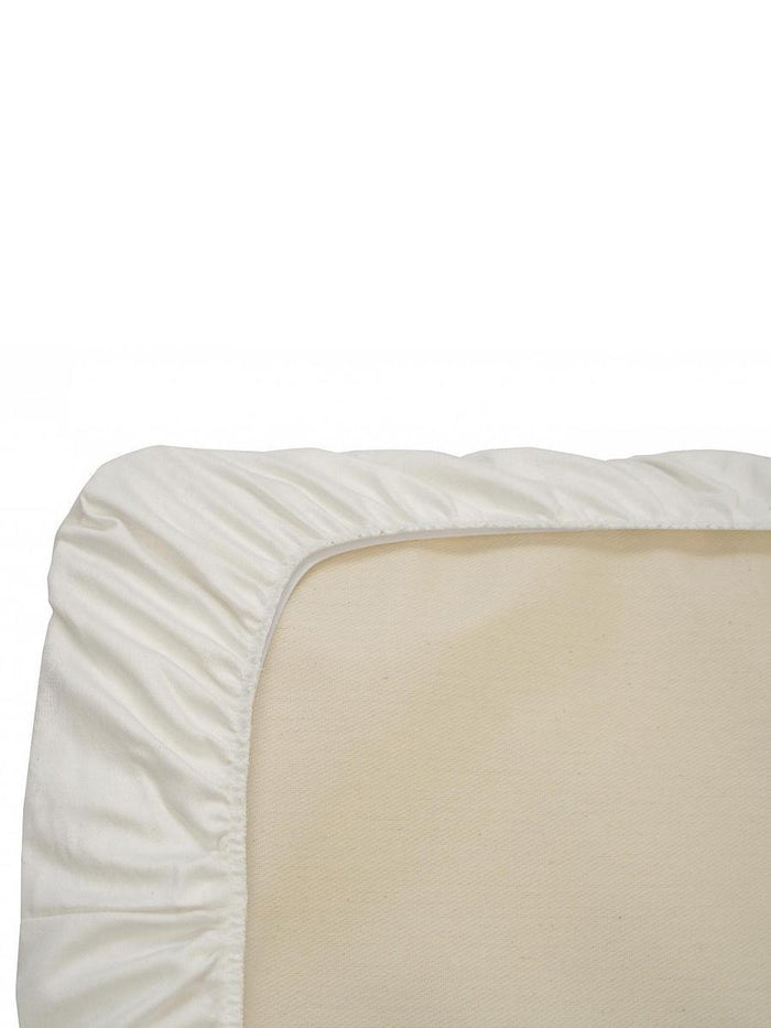 Little naturepedic room Fitted Crib Sheet in White