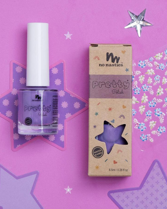 Little no nasties accessories water-based peelable nail polish in purple