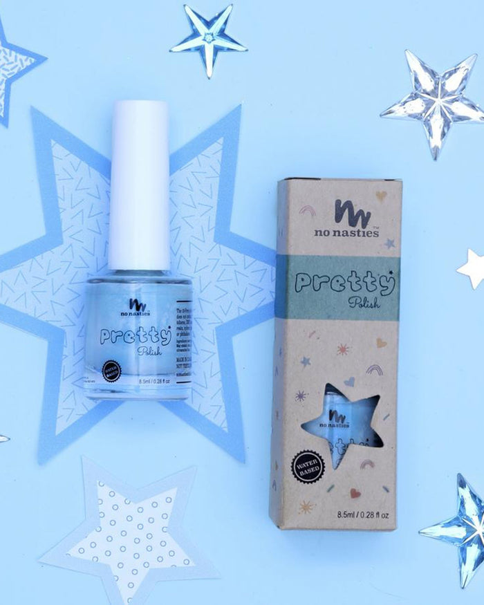 Little no nasties accessories water-based peelable nail polish in teal