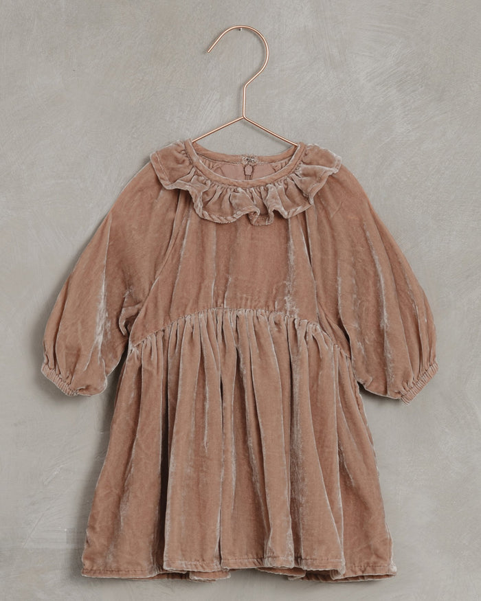 Little noralee girl adeline dress in dusty rose