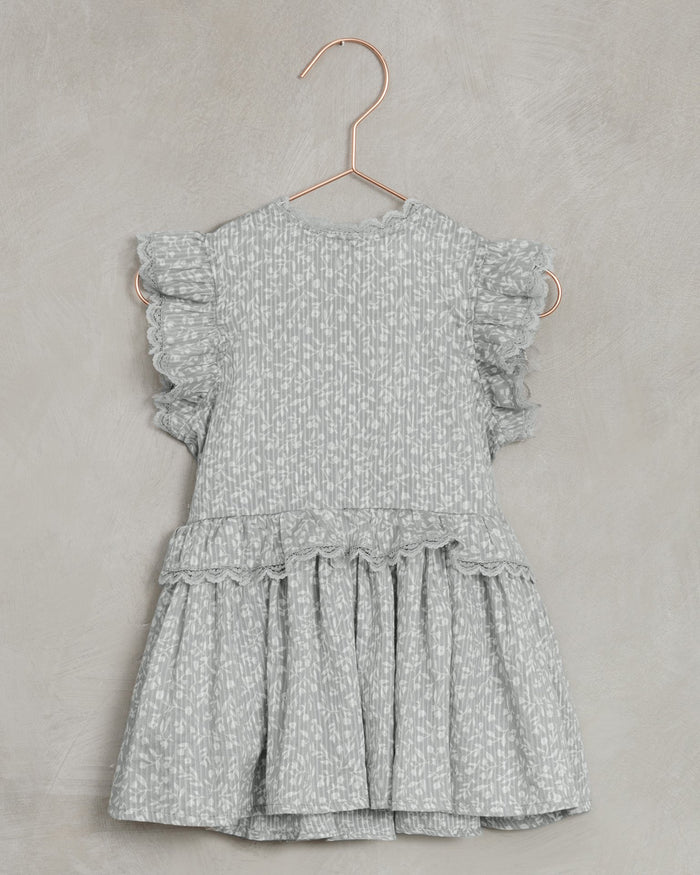 Little noralee girl alice dress in blue ditsy