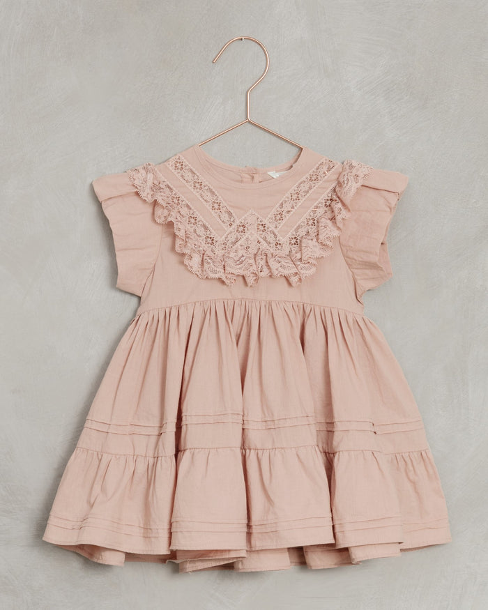 Little noralee girl goldie dress in dusty rose