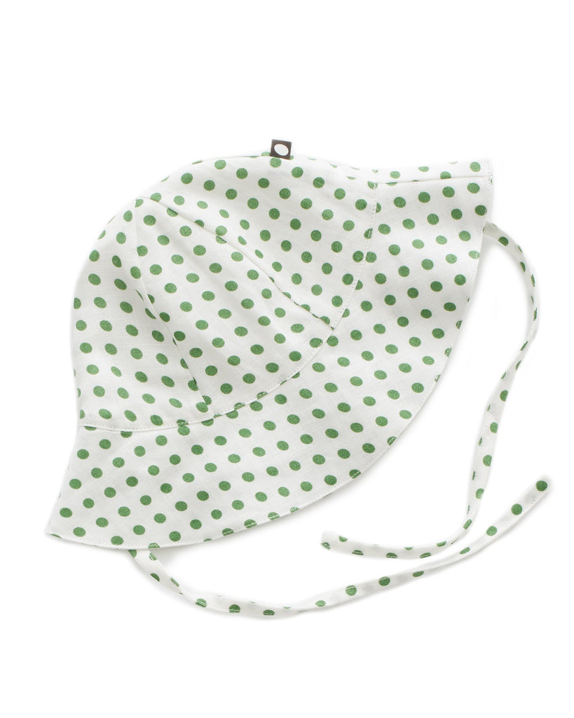 Little oeuf baby accessories baby hat in green dots
