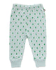 Little oeuf baby girl baby leggings in leek print