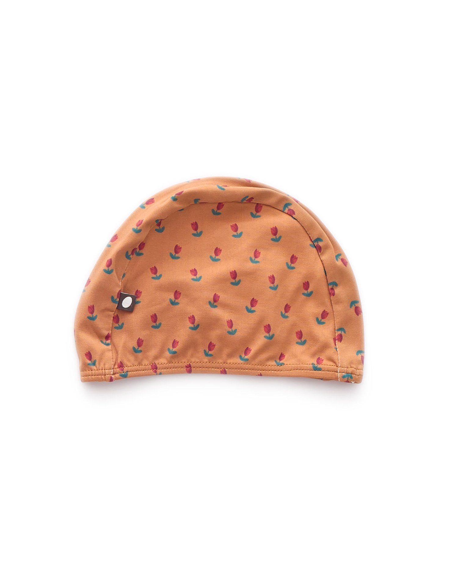 Little oeuf girl 0/3y bathing cap in rust + tulip
