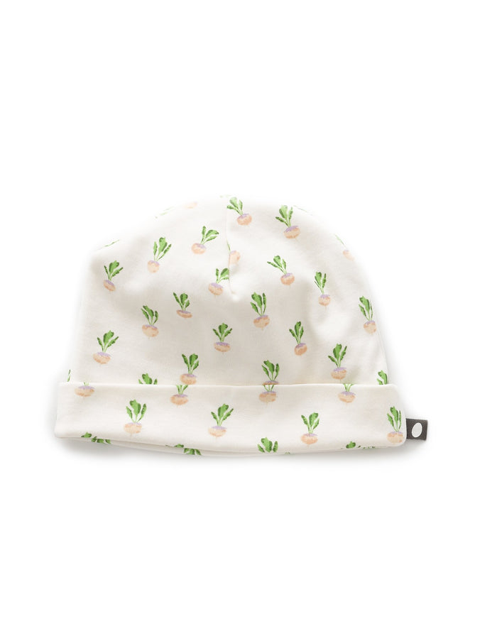 Little oeuf baby accessories one size beanie in gardenia