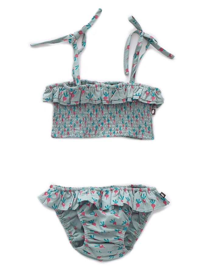 Little oeuf girl 18m bikini in jadeite + radish