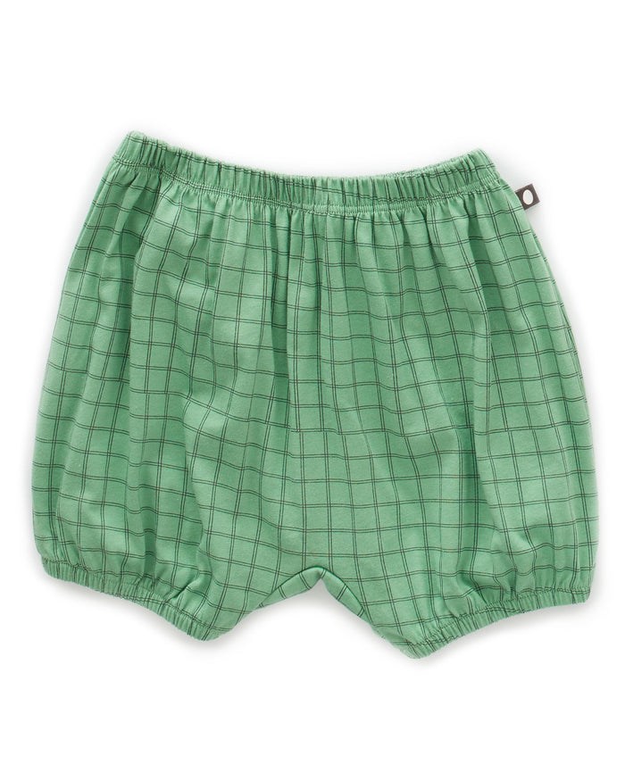 Little oeuf girl bubble shorts in green checks