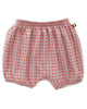 Little oeuf girl bubble shorts in mauve dots + autumn glaze