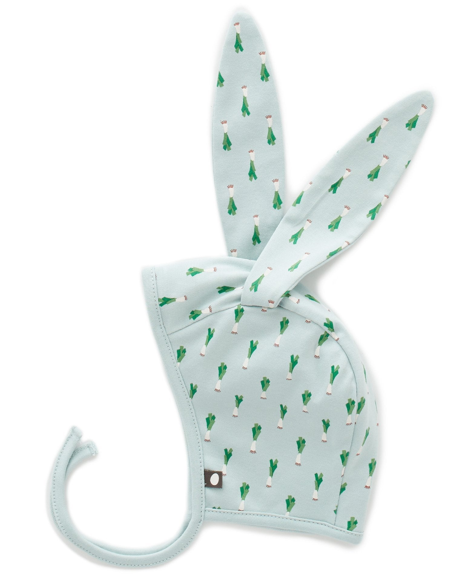 Little oeuf baby accessories bunny hat in leek print