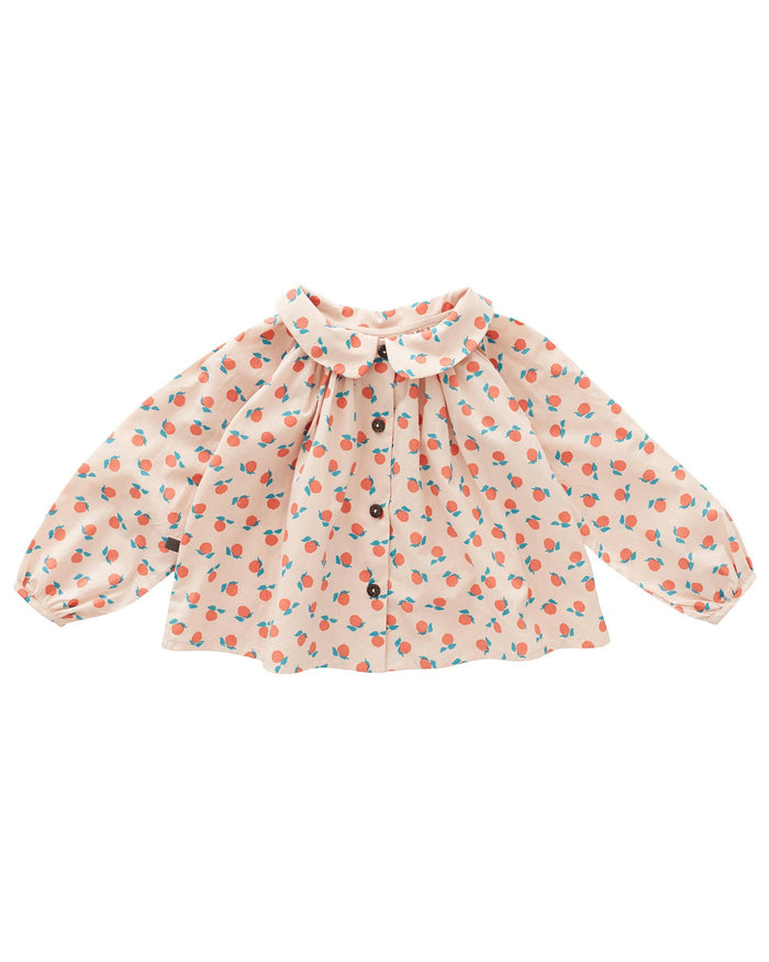 Little oeuf girl clementine blouse in light pink