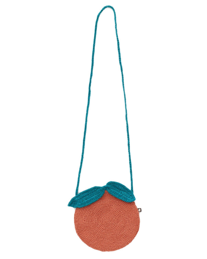 Little oeuf accessories clementine purse in apricot + teal