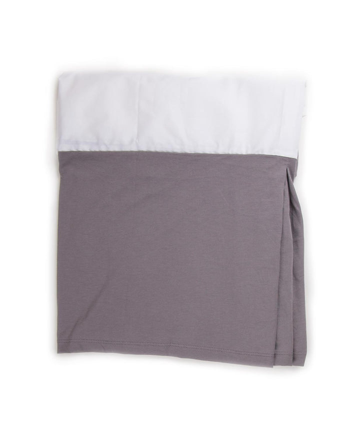 Little oeuf room Crib Skirt in Charcoal