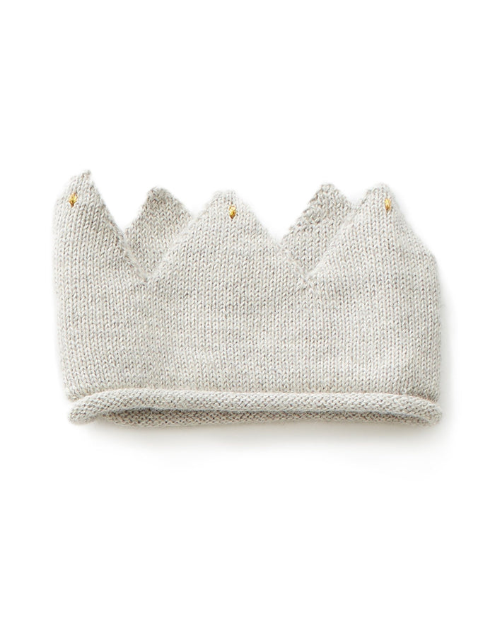 Little oeuf accessories crown in light grey
