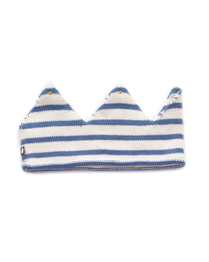 Little oeuf play 0/3y crown in white + blue stripes
