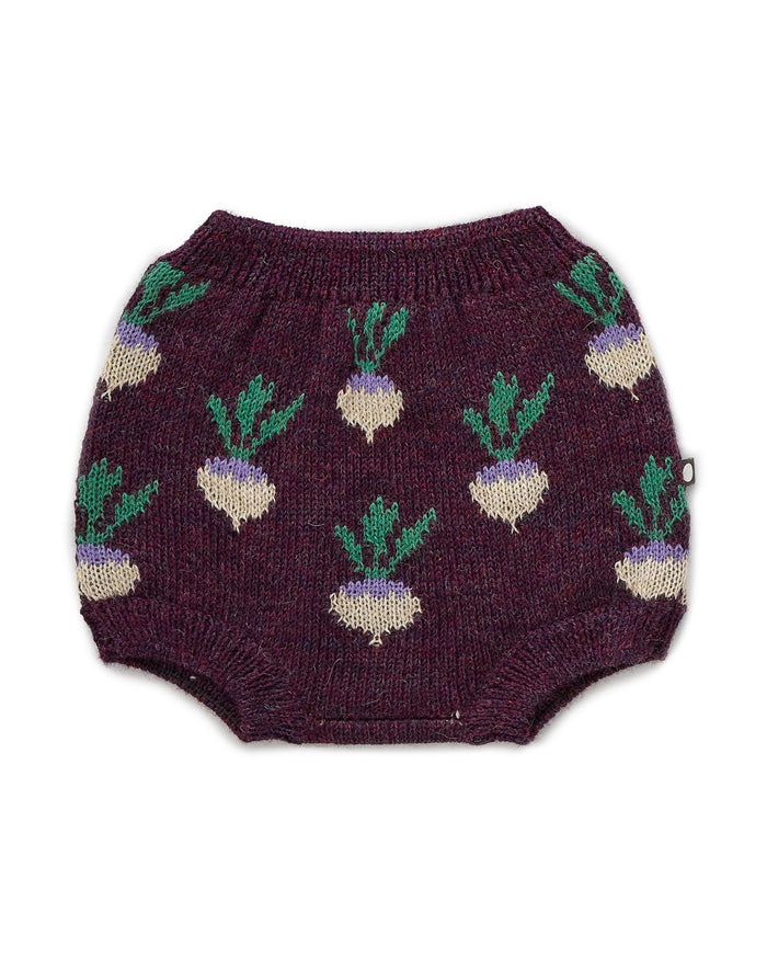 Little oeuf baby girl double bloomers in mauve