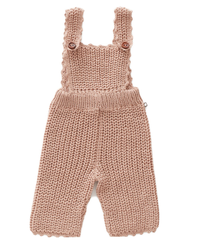 Little oeuf baby girl english overall in pink