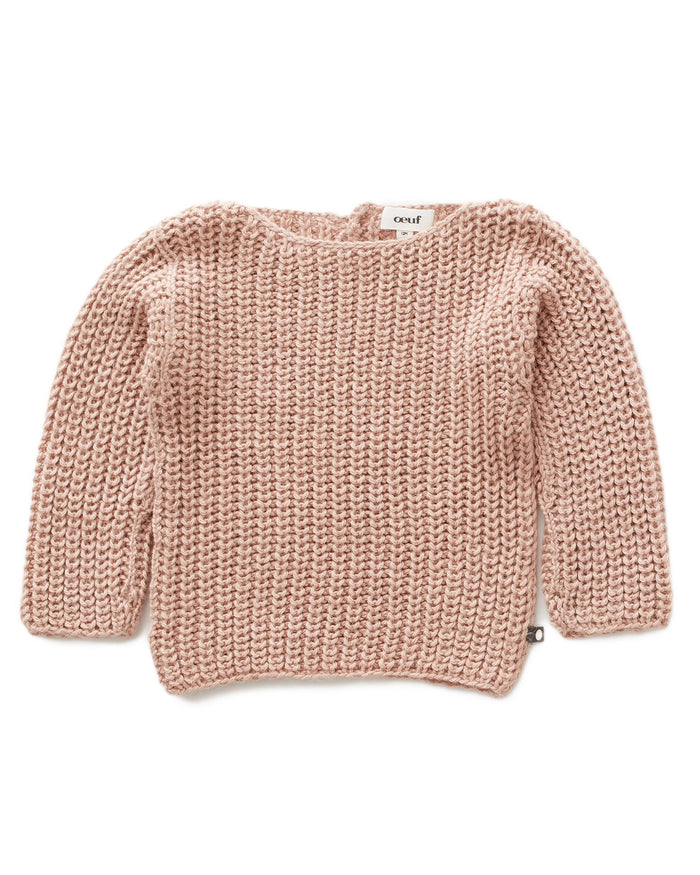 Little oeuf girl english sweater in pink