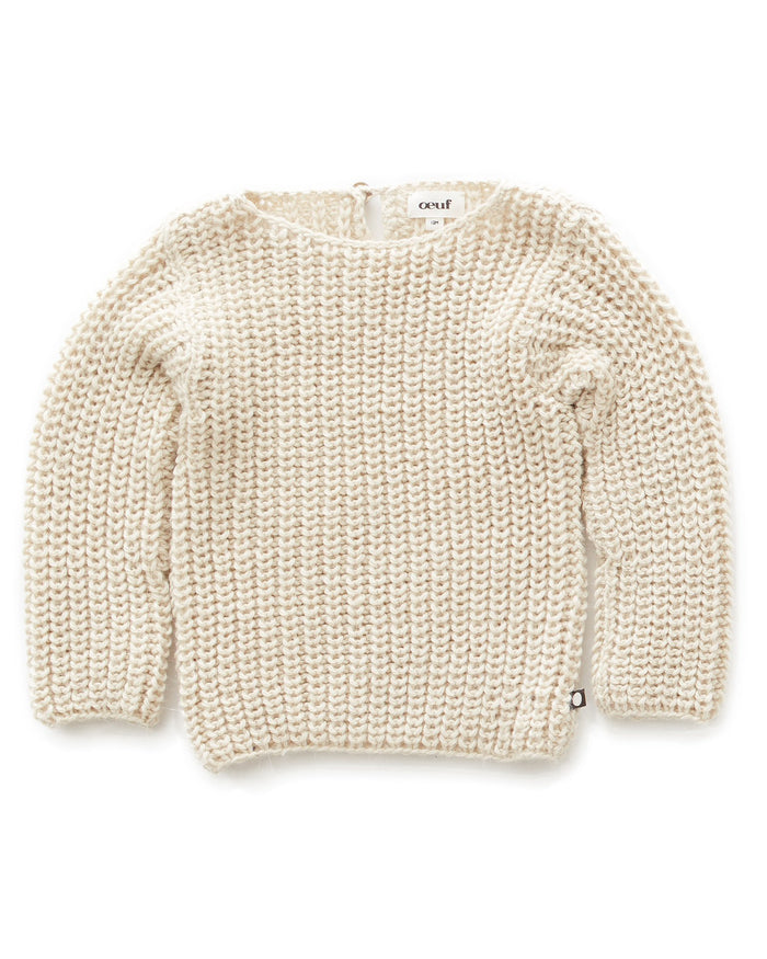 Little oeuf girl english sweater in white