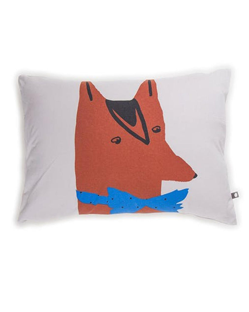 Little oeuf room Fox Pillow in Light Grey