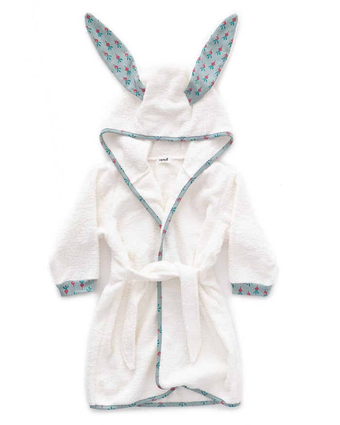 Little oeuf room 12m hooded robe in jadeite + radish