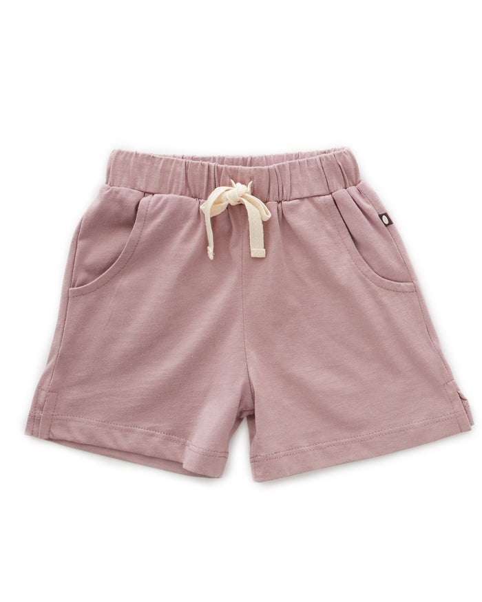 Little oeuf girl jersey shorts in mauve