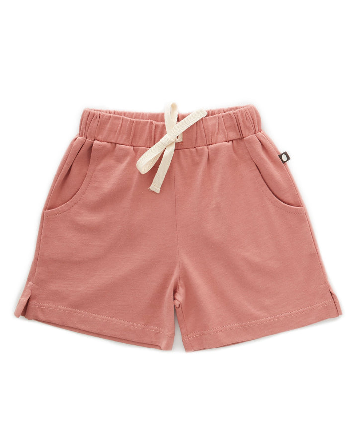 Little oeuf girl jersey shorts in rose dawn