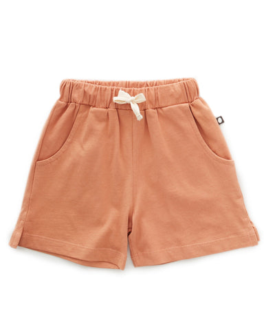 Little oeuf girl jersey shorts in toasted nut