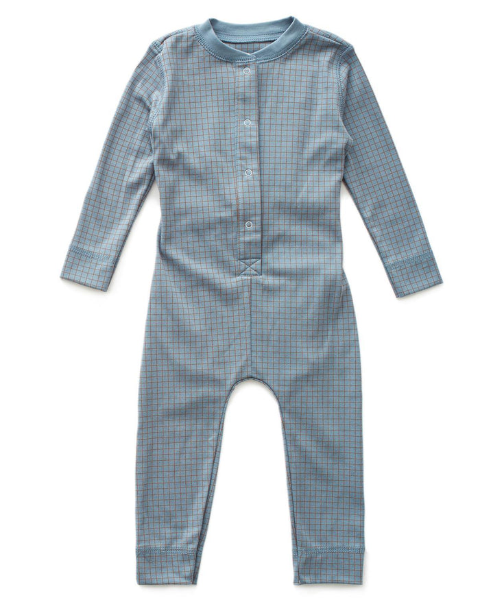 Little oeuf boy 2 Long Johns in Blue + Hazelnut