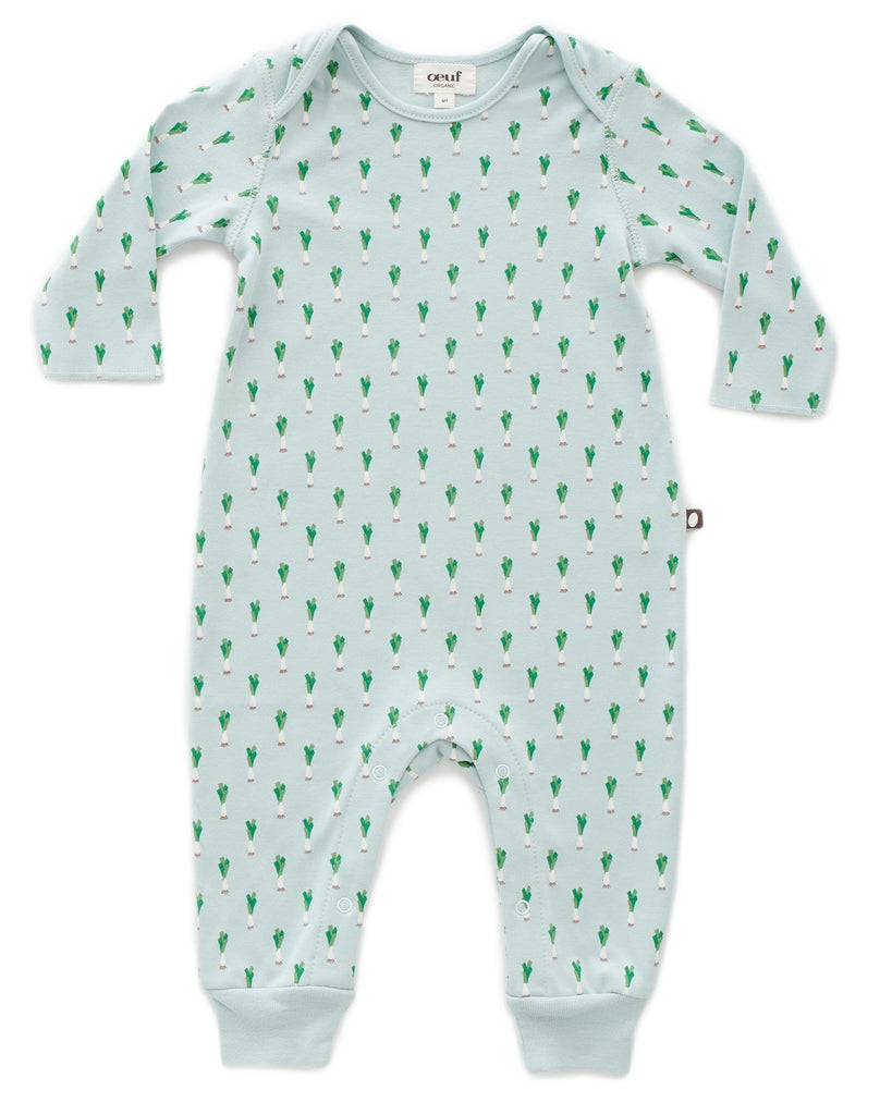 Little oeuf baby girl long sleeve jumper in leek print