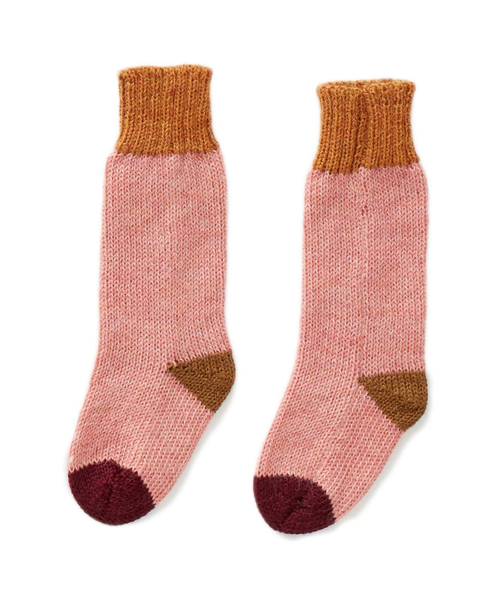 Little oeuf accessories long socks in peony multi
